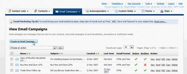 Pinpointe email direct marketing tool