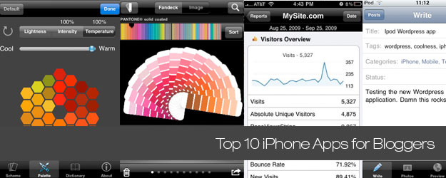 Top 10 iPhone Apps for Bloggers