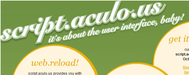 script.aculo.us - easy-to-use, cross-browser user interface JavaScript libraries