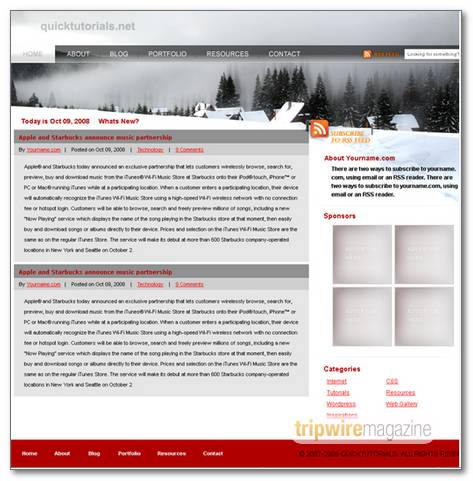 Winter Theme Template Design