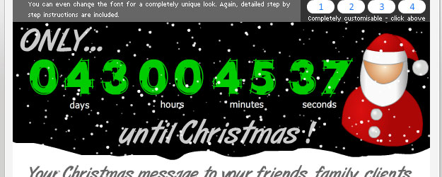 customisable christmas countdown clock