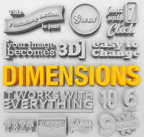 Dimensions - 3D Generator Action