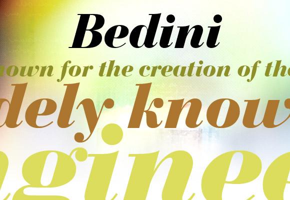 Bedini Bold Italic Free Font