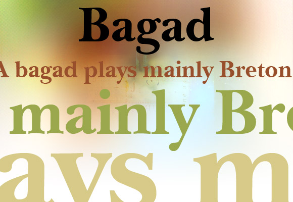 Bagad Bold Free Font
