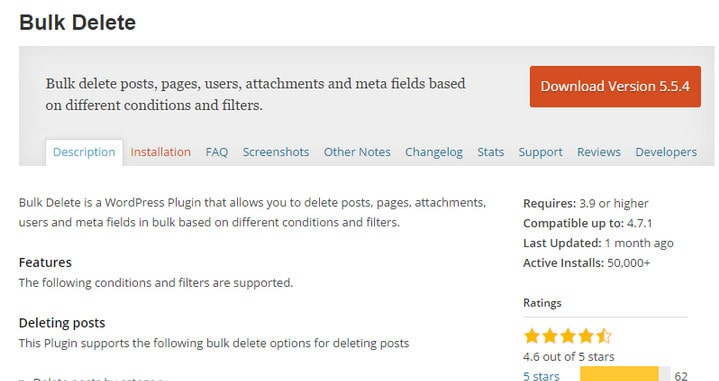 How to Effectively Bulk Delete many Posts in WordPress