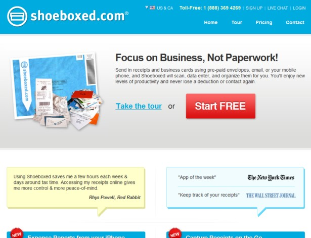 Shoeboxed - Scan, Email or Mail Receipts