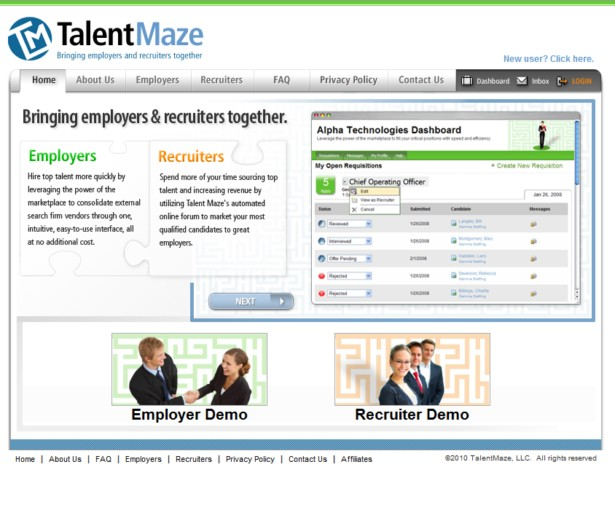 Talent Maze - Bringing employers and recruiters together