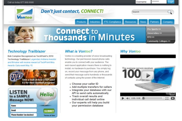Vontoo Voice - Vontoo Voice Marketing, Collections, and Notifications