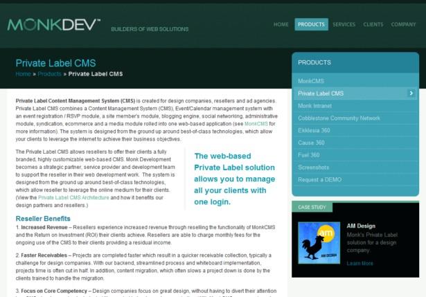 Monk Development - Private Label CMS