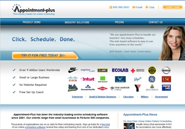 Appointment-plus - Appointment Scheduler Online Reservation Software System