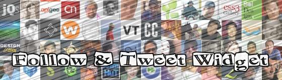 Follow tweet widget