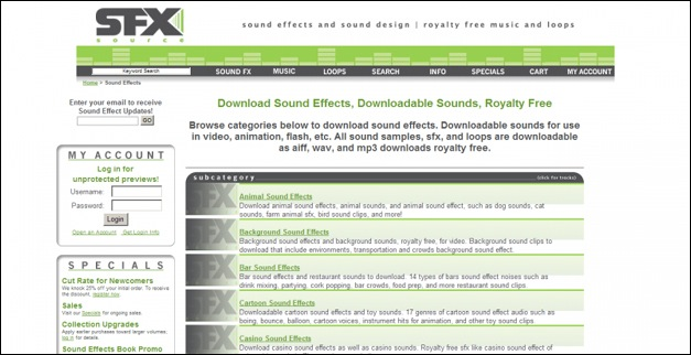 SFX Source Sound Effect Download