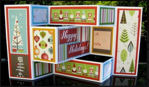 Christmas Card Tri Fold Shutter