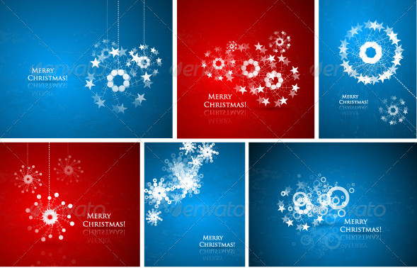 abstract-christmas-composition