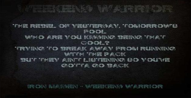 weekend warrior font