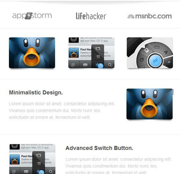 ruby newsletter design