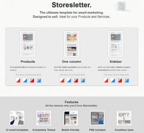 storeletter newsletter design