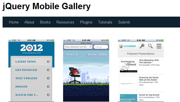 jQuery Mobile Gallery