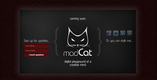 madCat coming soon page
