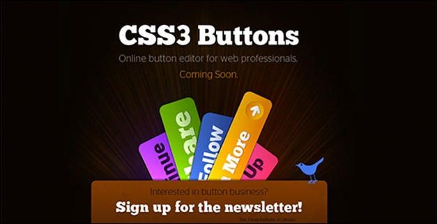 Css3 buttons coming soon page