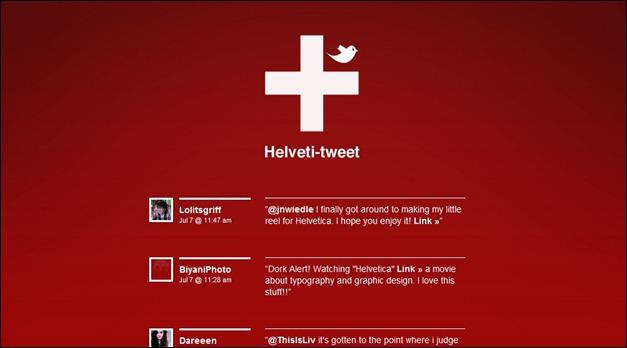 Helveti Tweet