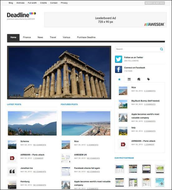 Deadline WordPress Theme