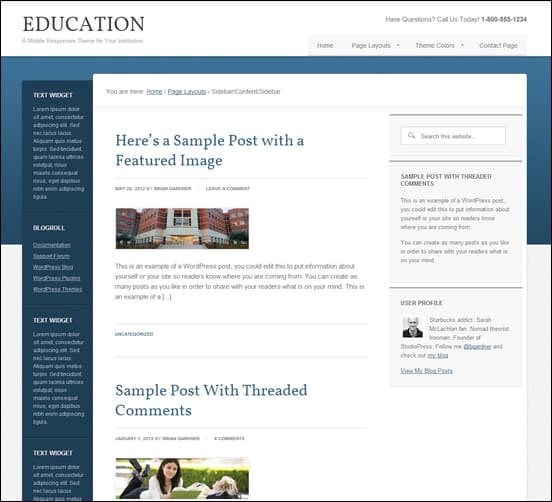 Education CMS WordPress Theme