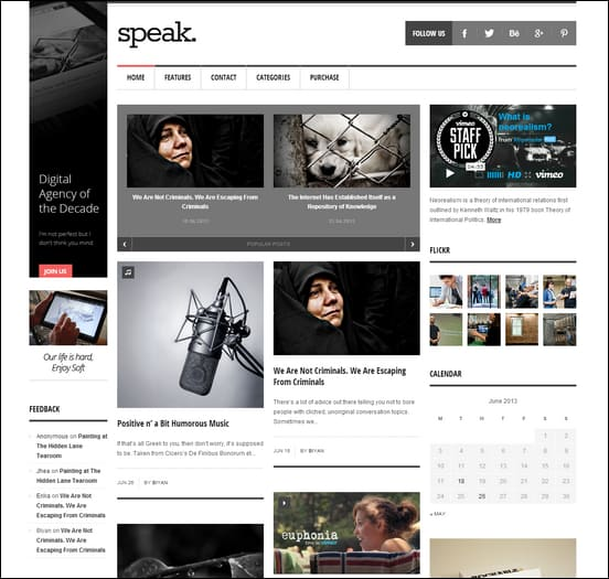 Speak - Magazine WordPress Theme
