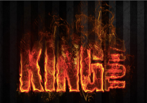 fire text effect