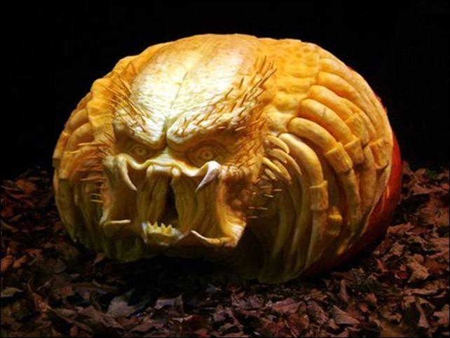 Predator Halloween Pumpkin