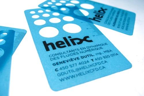"""""""Helix"""" Stationary Card"""