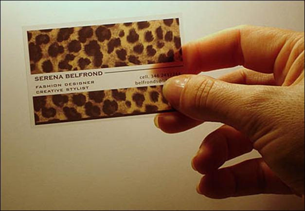 Fashion Designer Plastic Business Card