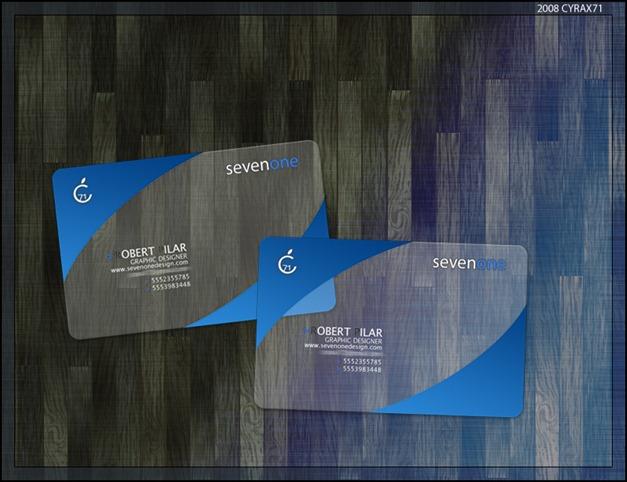 sevenone business cards