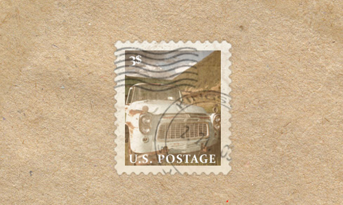 Vintage Postage Stamp in Photoshop