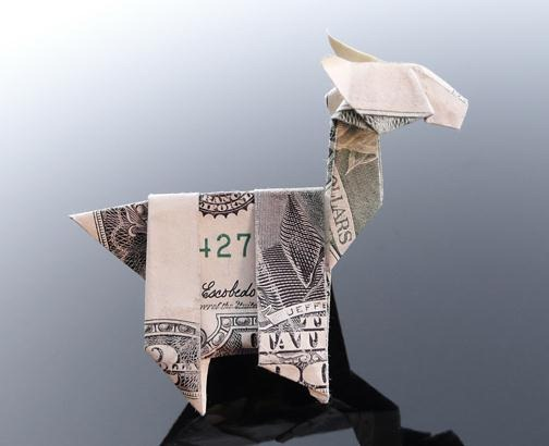 origami instructions art and craft ideas: money origami dragon | 410x504
