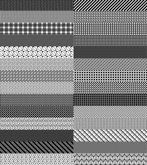 200 Photoshop patterns – Pixel patterns