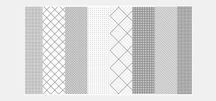 26 repeatable pixel patterns