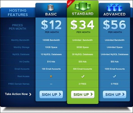 pricing-table-psd-template