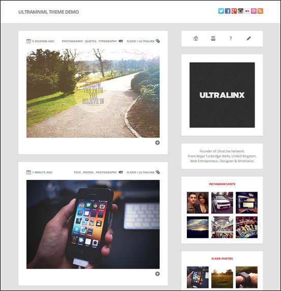 Ultramnml Clean Responsive Tumblr Theme