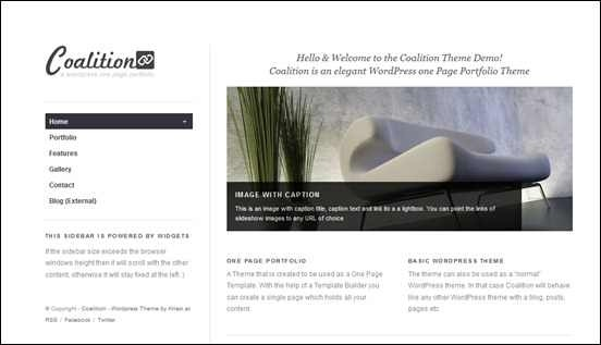 Coalition wordpress theme