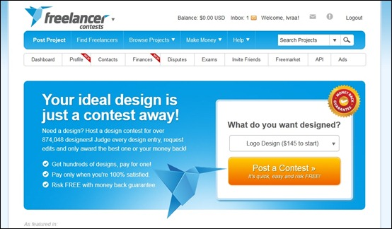 freelancer-design-contest-site
