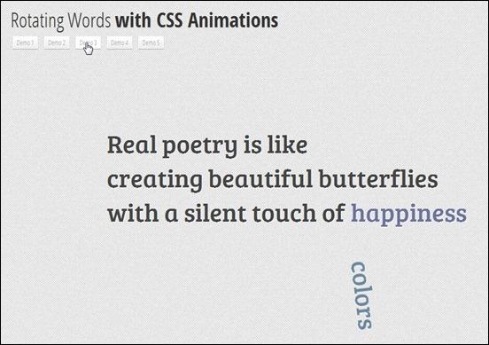 CSS3RotatingWords