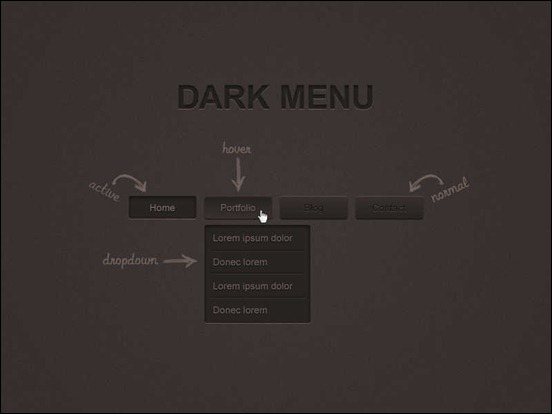 dark-menu-psd