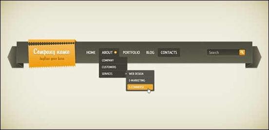 drop-down-navigation-menu