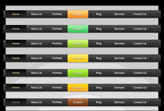 free-colored-web-menus