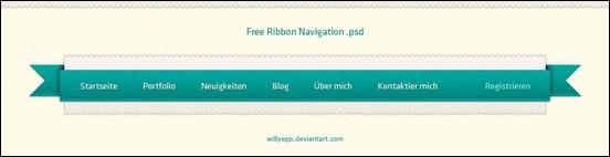 free-navigation-psd