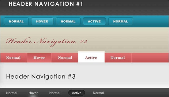 header-and-navigation-pack