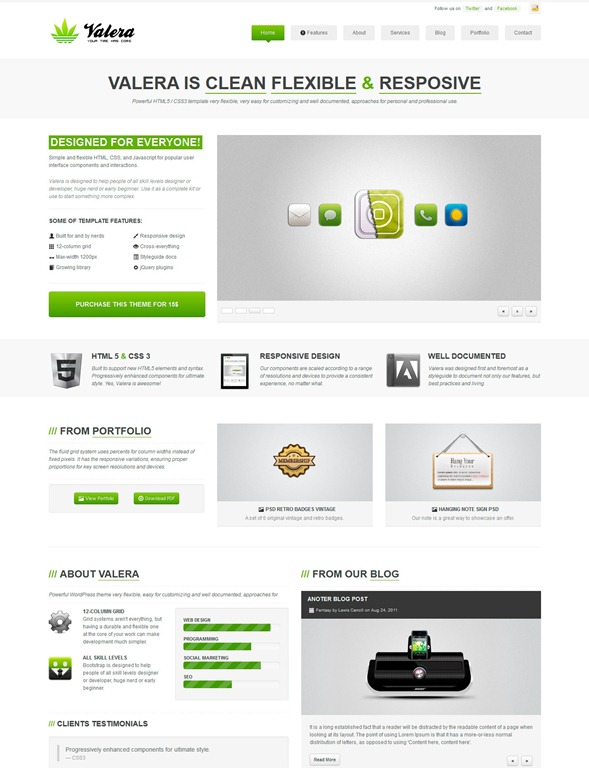 40 great responsive html website templates tripwire magazine valera responsive html template maxwellsz