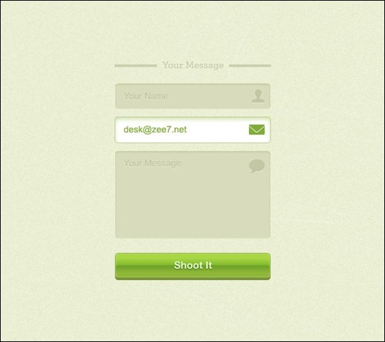 free-green-contact-form