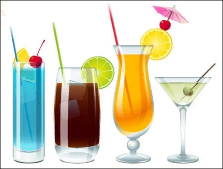 free-vector-cocktails